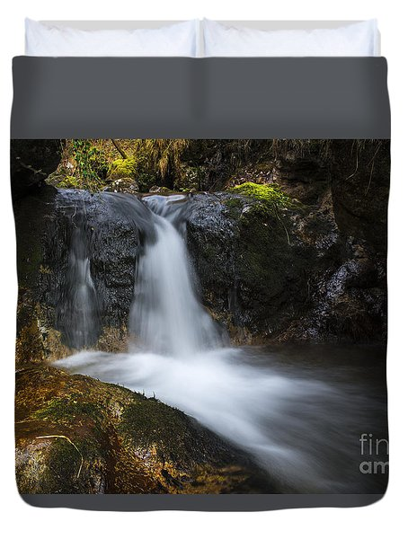 Duvet Cover featuring the photograph Down The River by Yuri Santin