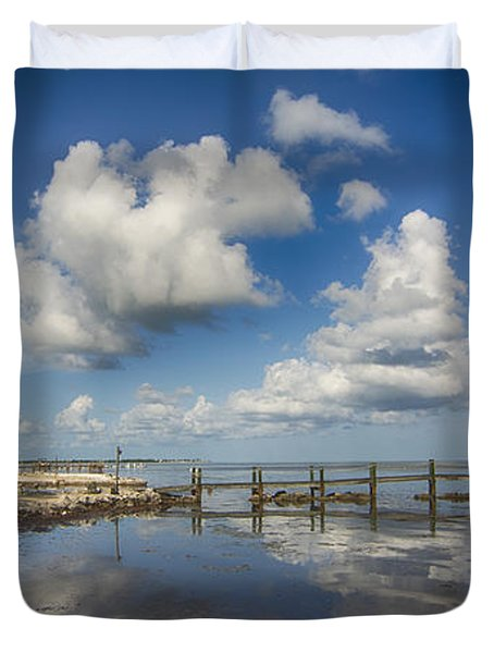 Down The Shore Duvet Cover