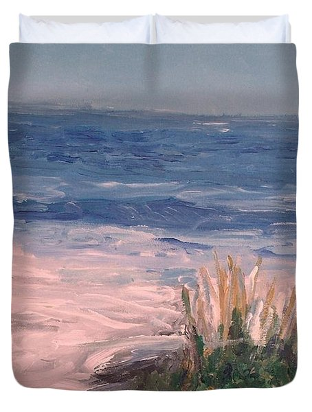 Down The Shore Duvet Cover by Eric  Schiabor