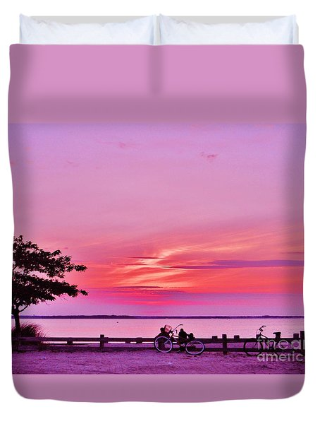 Duvet Cover featuring the photograph Summer Down The Shore by Susan Carella