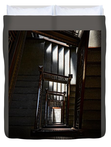 Down The Stairs Duvet Cover