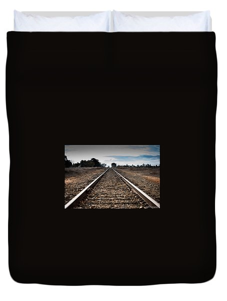 Down The Track Duvet Cover