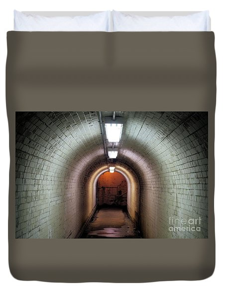 Down The Tunnel Duvet Cover