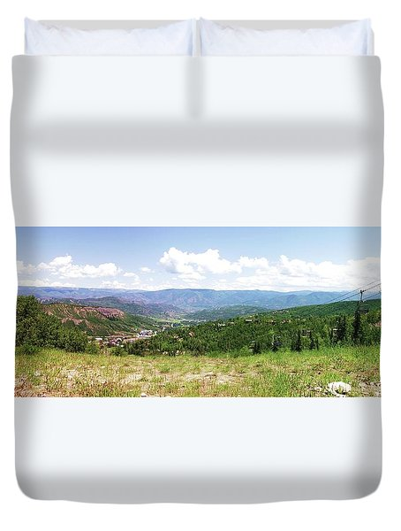 Down The Valley At Snowmass #2 Duvet Cover