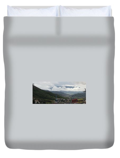 Down The Valley At Snowmass #3 Duvet Cover