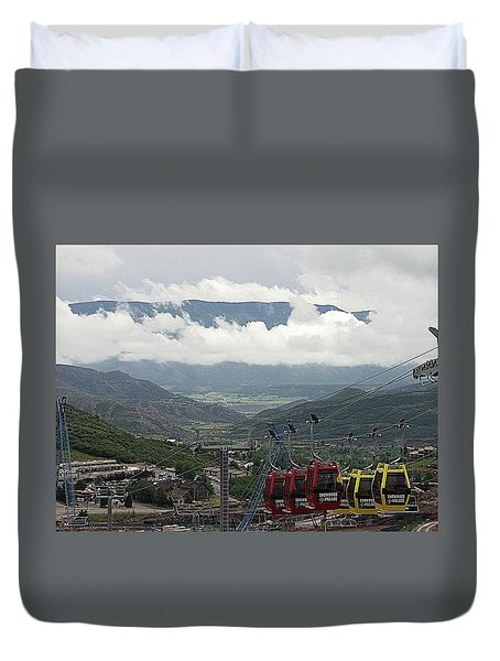 Duvet Cover featuring the photograph Down The Valley At Snowmass by Jerry Battle