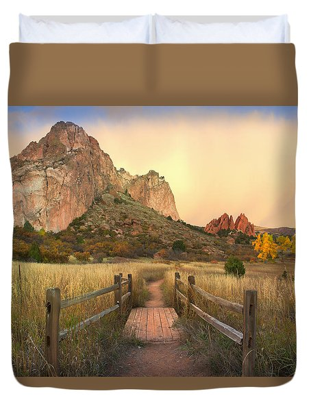 Down This Path Duvet Cover
