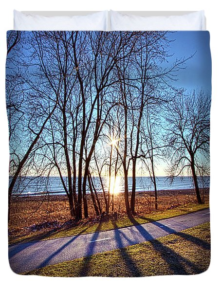 Duvet Cover featuring the photograph Down This Way We Meander by Phil Koch