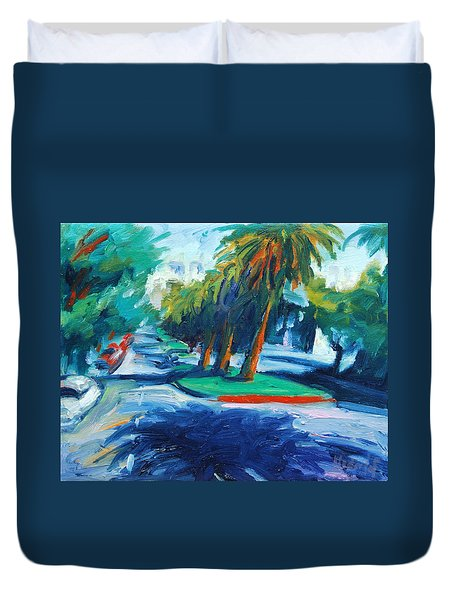 Downhill Duvet Cover
