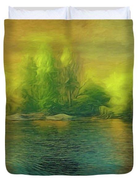 Downriver Glow Duvet Cover