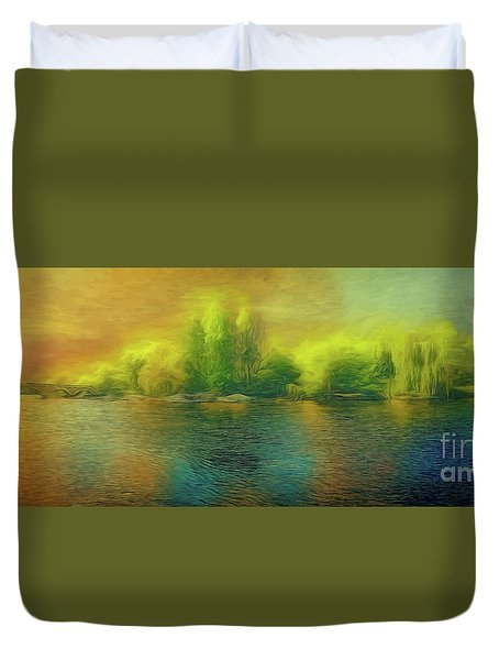 Downriver Glow Duvet Cover
