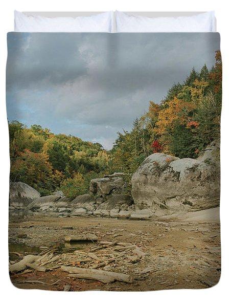 Downstream From Cumberland Falls Duvet Cover