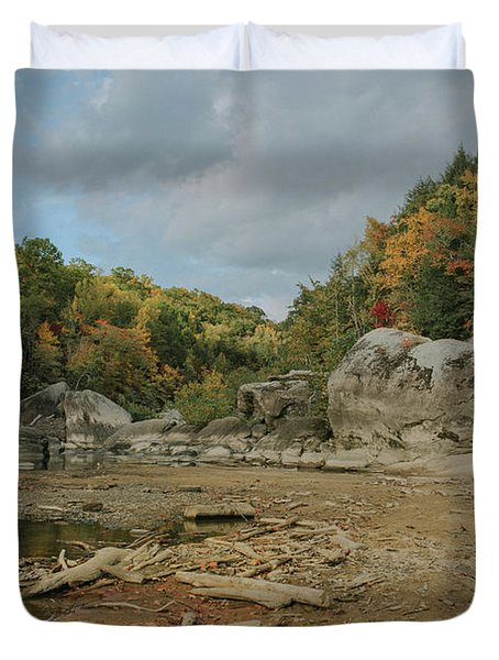 Downstream From Cumberland Falls Duvet Cover