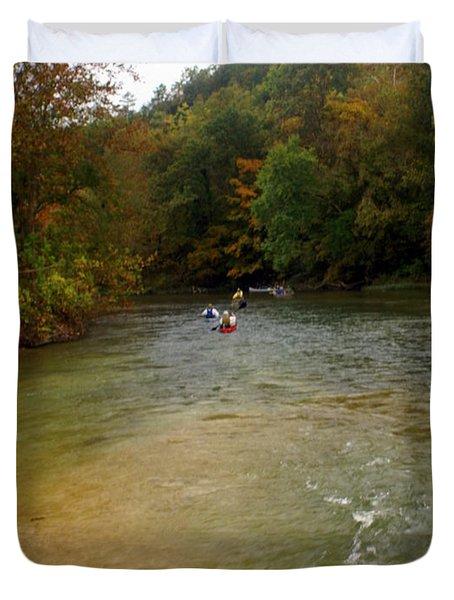 Downstream Duvet Cover by Marty Koch
