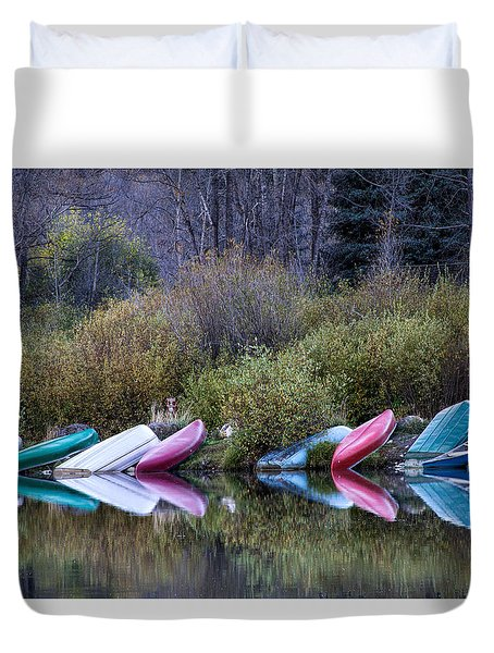 Downtime At Beaver Lake Duvet Cover by Alana Thrower