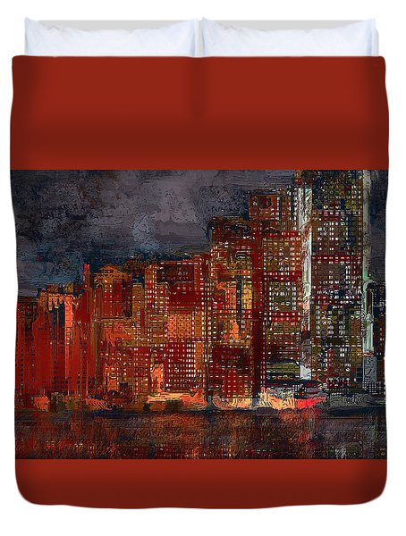 Downtown Duvet Cover by Alex Galkin