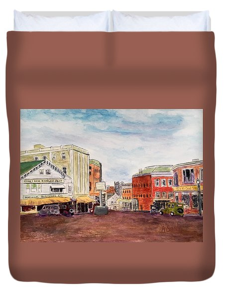 Downtown Amesbury Ma Circa 1920 Duvet Cover