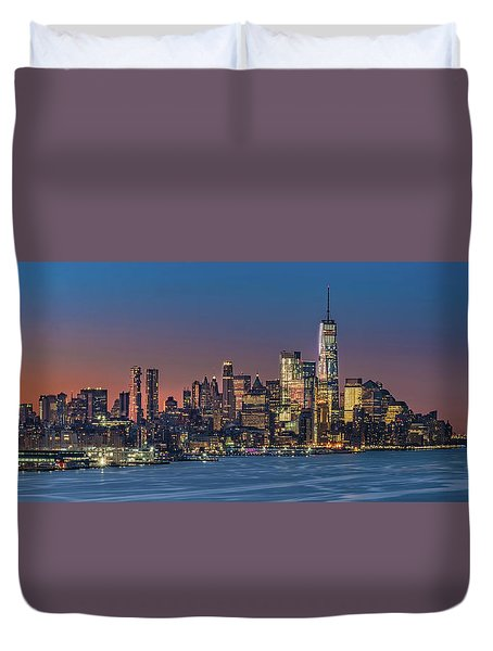 Downtown And Freedom Tower Duvet Cover
