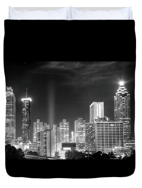 Downtown Atlanta Skyline Duvet Cover