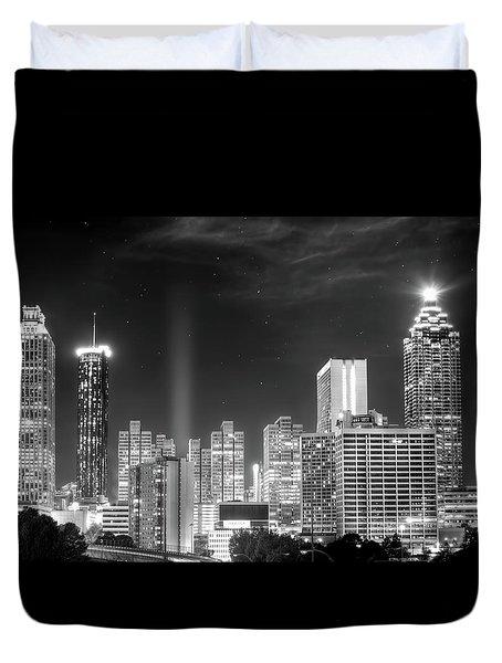 Downtown Atlanta Skyline Duvet Cover