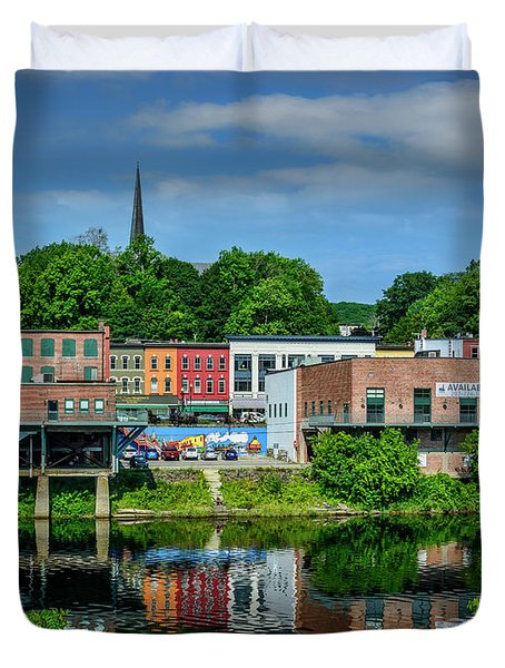 Downtown Augusta, Maine Duvet Cover