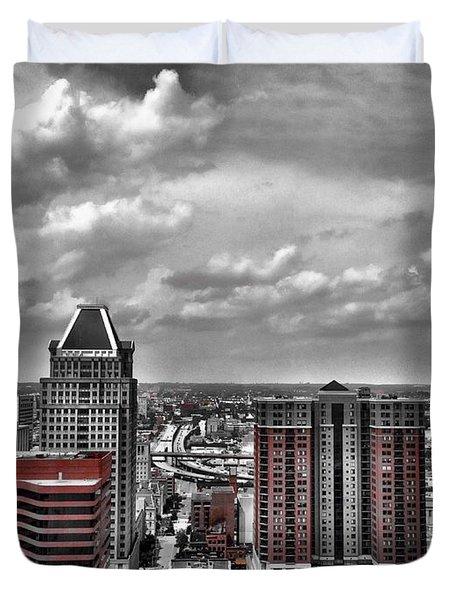 Downtown Baltimore City Duvet Cover