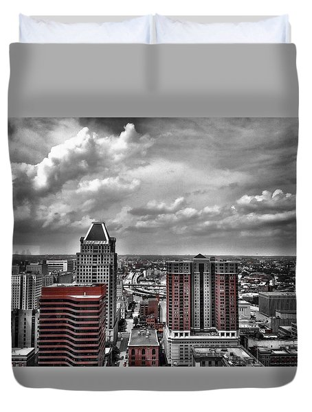Downtown Baltimore City Duvet Cover