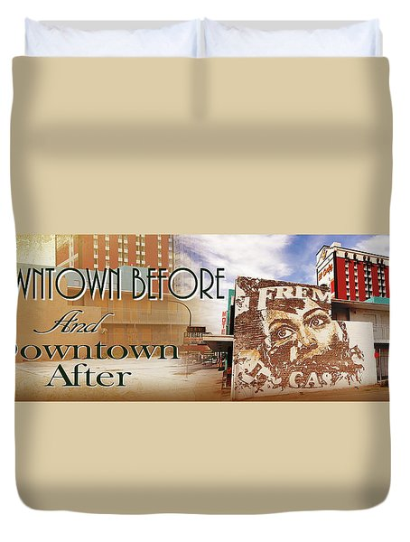 Downtown Before And Downtown After Duvet Cover