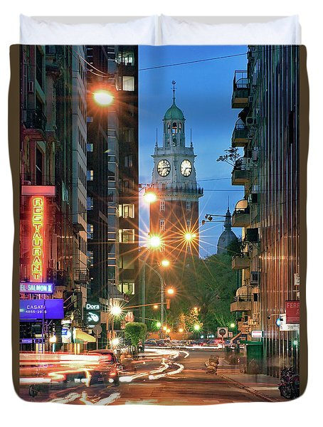 Duvet Cover featuring the photograph Downtown by Bernardo Galmarini