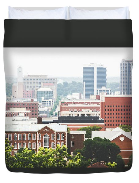 Duvet Cover featuring the photograph Downtown Birmingham - The Magic City by Shelby Young