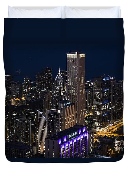 Duvet Cover featuring the photograph Downtown Chicago by Andrea Silies