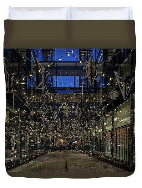 Downtown Christmas Decorations - Washington Duvet Cover