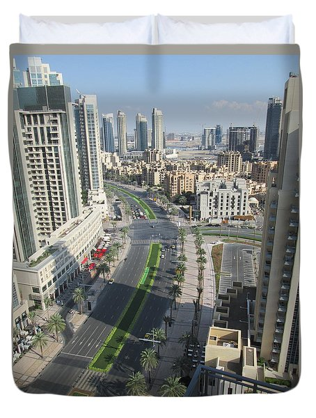 Downtown Dubai Duvet Cover by Marie Neder