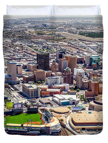 Downtown El Paso Duvet Cover