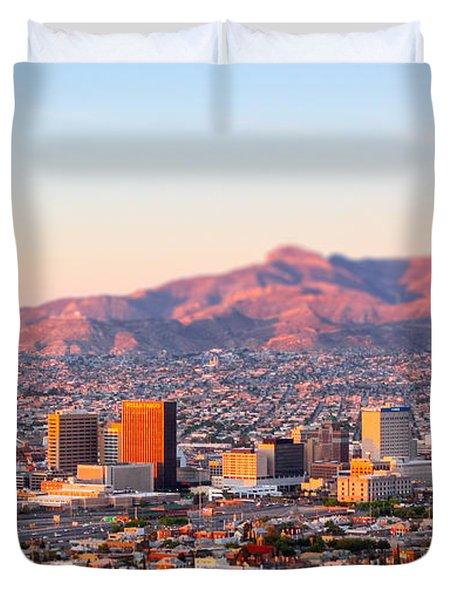 Downtown El Paso Sunrise Duvet Cover