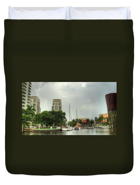 downtown Ft Lauderdale waterfront Duvet Cover