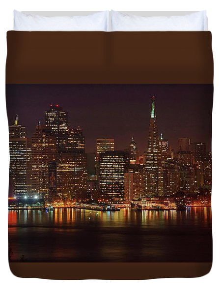 Downtown Gotham City Duvet Cover