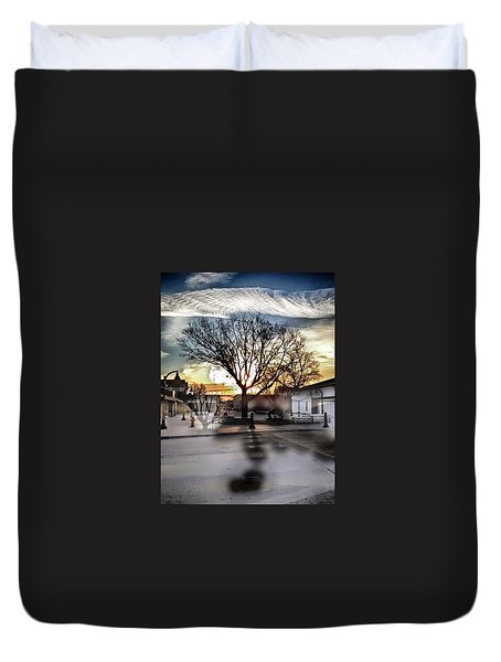 Downtown Hdr Atchison Duvet Cover by Dustin Soph
