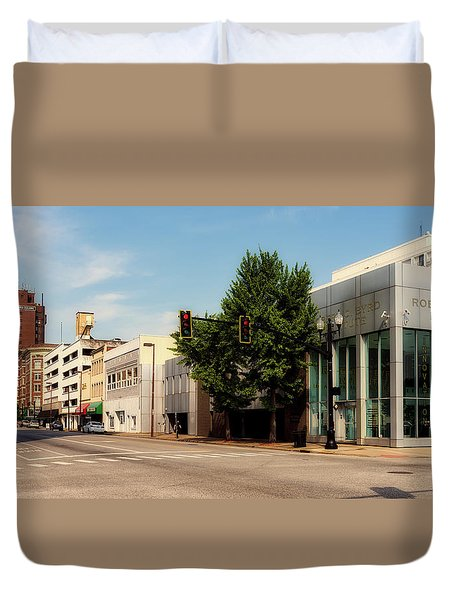 Downtown Huntington West Virginia Duvet Cover by L O C