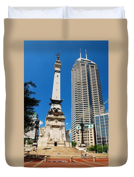 Downtown Indy Duvet Cover