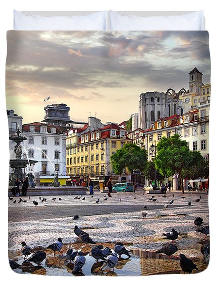 Downtown Lisbon Duvet Cover