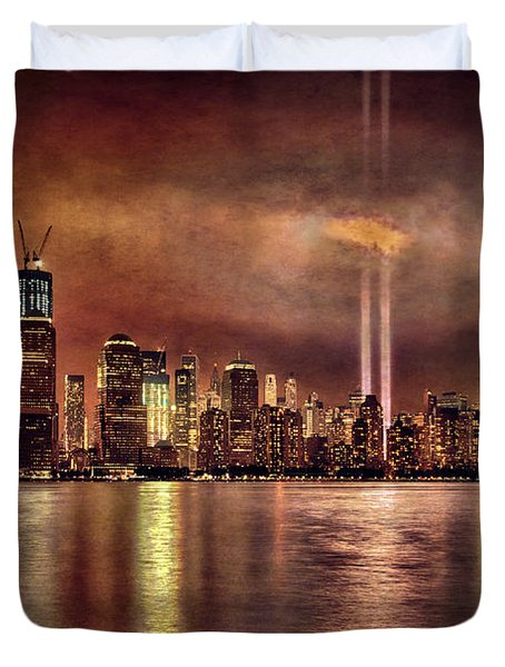 Downtown Manhattan September Eleventh Duvet Cover