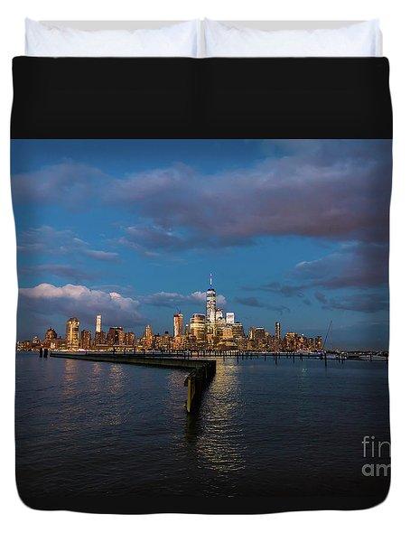Downtown Manhattan Duvet Cover