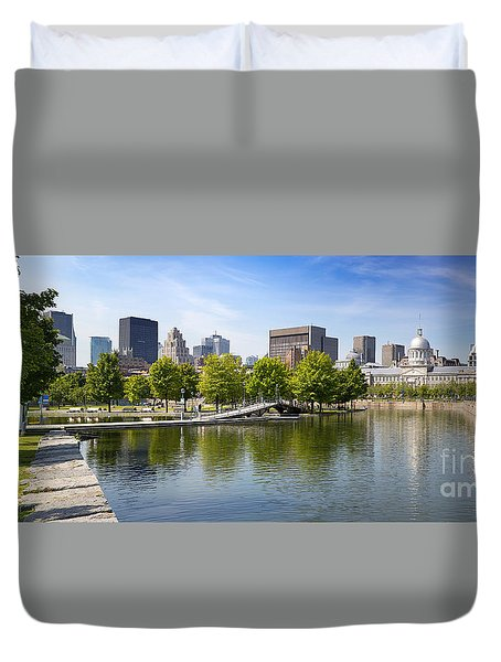 Downtown Montreal In Summer Duvet Cover