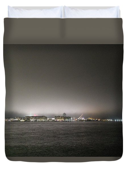 Downtown Oc Skyline Duvet Cover