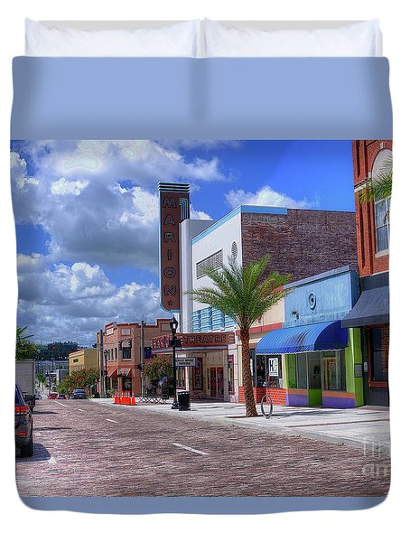 Downtown Ocala Theatre Duvet Cover