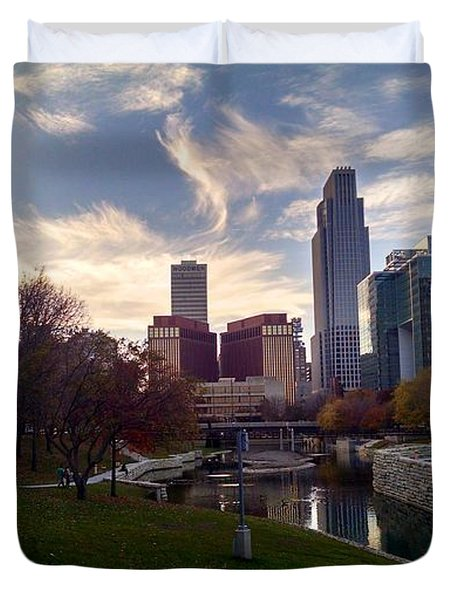 Downtown Omaha Duvet Cover