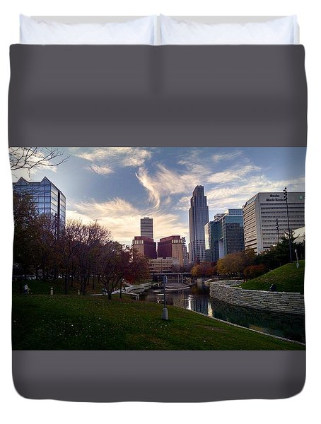 Downtown Omaha Duvet Cover