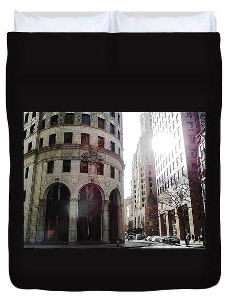 Downtown Providence Duvet Cover