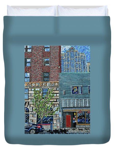 Downtown Raleigh - West Martin Street Duvet Cover by Micah Mullen